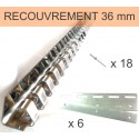 POUTRE A CROCHETS INOX POUR LANIERE DECROCHABLE DE 200 mm 1/3 (984 mm)