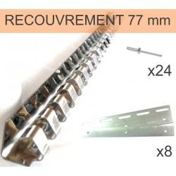 POUTRE A CROCHETS INOX POUR LANIERE DECROCHABLE DE 200 mm 3/4 (984 mm)