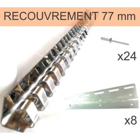 POUTRE A CROCHETS INOX POUR LANIERE DECROCHABLE DE 200 mm 2/3 (984 mm)